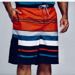 "Men's 21"" Americana Stripe Board Shorts Medium"